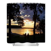 Door Peninsula Sunset Shower Curtain