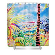 Door To The Paradise Shower Curtain