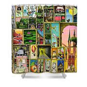 Doors Open Shower Curtain by Colin Thompson