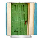 Doorway In The Hollywood Hills Shower Curtain