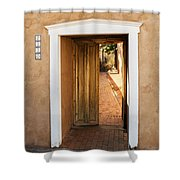 Doorway - Mesilla New Mexico Shower Curtain