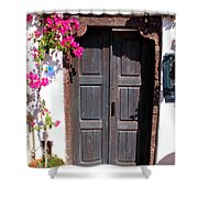 Doorway Oia Santorini Greek Islands Shower Curtain