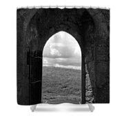 Doorway To Irish Landscape 1 Shower Curtain