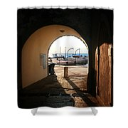 Doorway To The Sea Shower Curtain