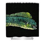 Gyotaku Dorado Shower Curtain