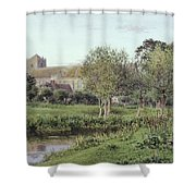Dorchester Abbey, Near Wallingford, Autumn Evening Shower Curtain