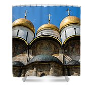 Dormition Cathedral - Square Shower Curtain