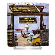 Dory Fishing Fleet Market Newport Beach California Shower Curtain by Paul Velgos