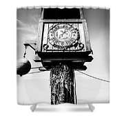Dory Fleet Crow's Nest Black And White Picture Shower Curtain