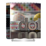 Dotty Diptych Shower Curtain