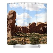Double Arch In The Windows District Shower Curtain