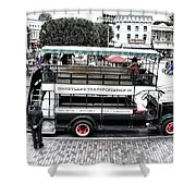 Double Decker Bus Main Street Disneyland Sc Shower Curtain