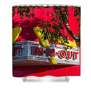 Double Double With Cheese Animal Style Yum Shower Curtain