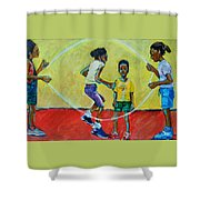 Double Dutch Shower Curtain