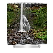 Double Falls In Silver Falls State Park In Oregon Shower Curtain
