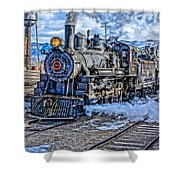 Double Header Nevada Northern Railway #1 Shower Curtain