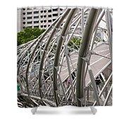 Double Helix Bridge 01 Shower Curtain