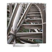 Double Helix Bridge 03 Shower Curtain