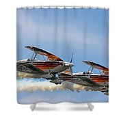Double Iron Eagles Shower Curtain