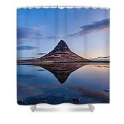 Double Kirkjufell Iceland Shower Curtain