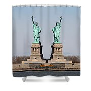 Double Libertys Shower Curtain