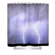 Double Lightning Strike Harmony Shower Curtain
