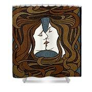 Double Medusa Illustration Panel Shower Curtain