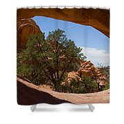 Double O Arch Shower Curtain