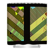 Double Pattens Shower Curtain