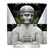 Double Sphinx Shower Curtain