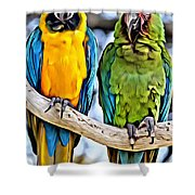 Double Troublers Shower Curtain