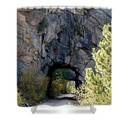 Double Tunnel - Eleven Mile Canyon Shower Curtain