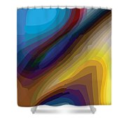Doubleback Shower Curtain