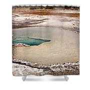 Doublet Pool In Upper Geyser Basin In Yellowstone National Park Shower Curtain