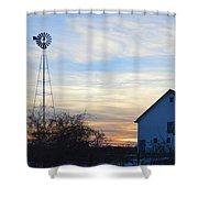 Dougherty Barn Panorama Shower Curtain