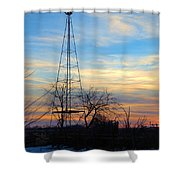 Dougherty Windmill Shower Curtain