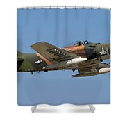 Douglas Ad-4 Skyraider Shower Curtain