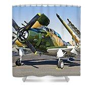 Douglas Ad-5 Skyraider Attack Aircraft Shower Curtain