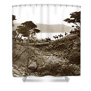 Douglas School For Girls At Lone Cypress Tree Pebble Beach 1932 Shower Curtain