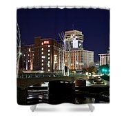 Douglas Street Bridge In Wichita Shower Curtain