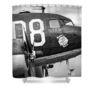 Douglass C-47 Skytrain - Nose Section - Dakota Shower Curtain
