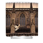 Dove Flying By Church Shower Curtain