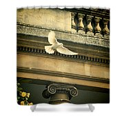 Dove In Flight Shower Curtain