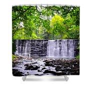 Dove Lake Waterfall At Gladwyne Shower Curtain