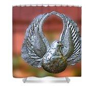 Garden Dove Of Peace Sculpture Shower Curtain
