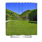 Dovedale - Stepping Stones Area Shower Curtain