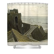 Dover Castle, From A Voyage Around Shower Curtain
