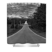 Down A Country Road Shower Curtain