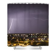 Down And Across Shower Curtain
