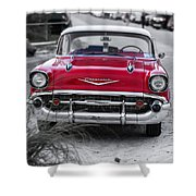 Down At The Shore Shower Curtain by Edward Fielding